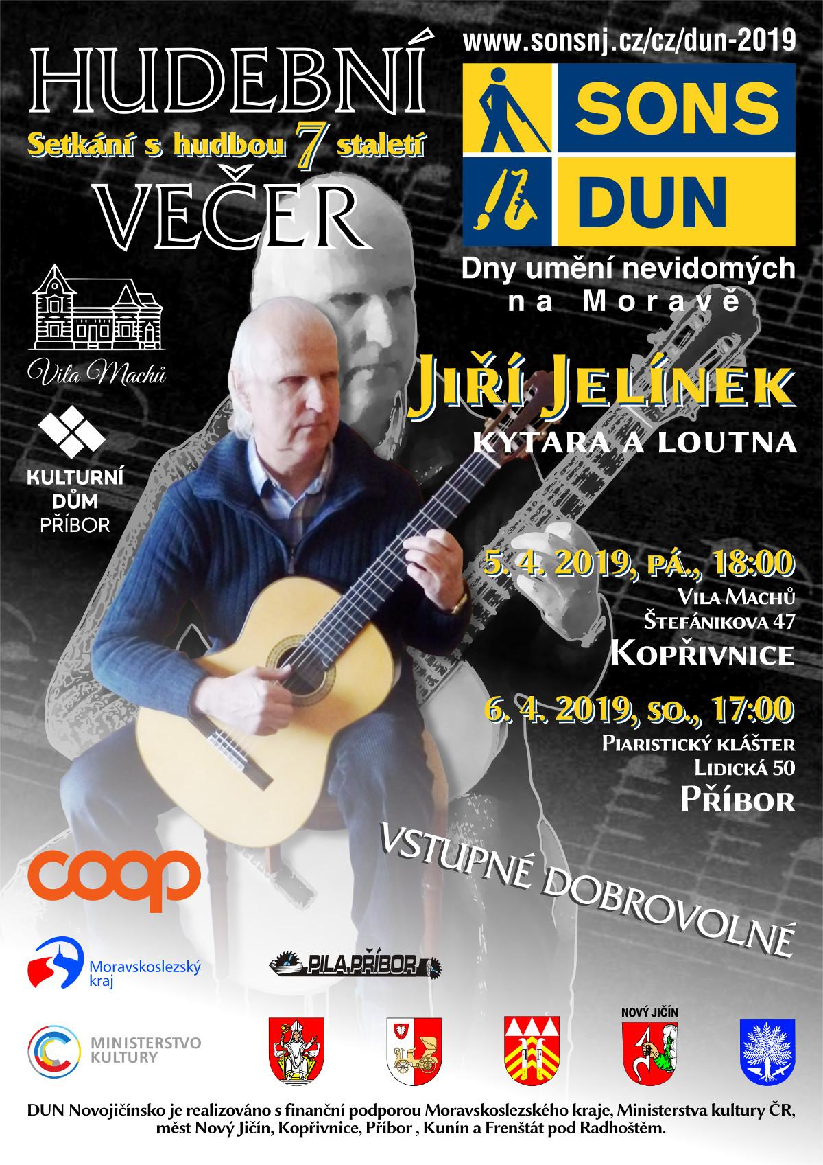 Pozvánka na hudební večery DUN v Kopřivnici a v Příboře.