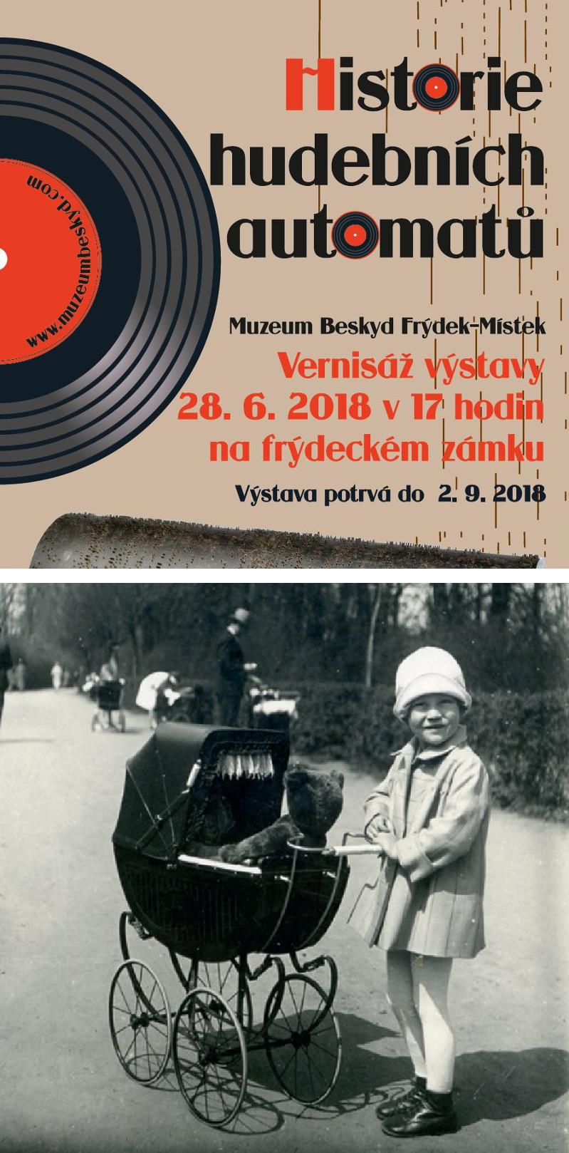 Fotokoláž z pozvánek na výstavy v Beskydském muzeu ve Frýdku-Místku.