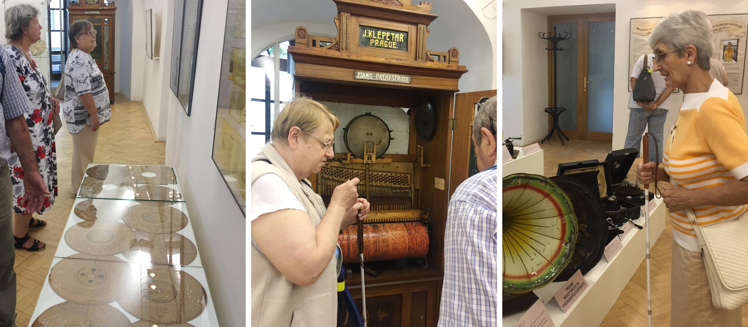 Fotokoláž z prohlídky Beskydského muzea ve FM.