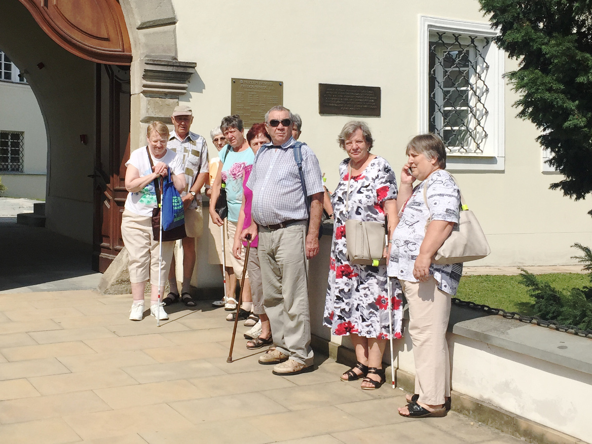 Fotka z prohlídky Beskydského muzea ve FM.