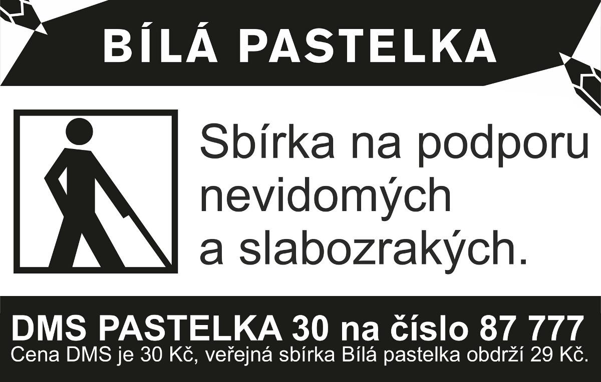 Propagační baner Bílé pastelky s DMS.