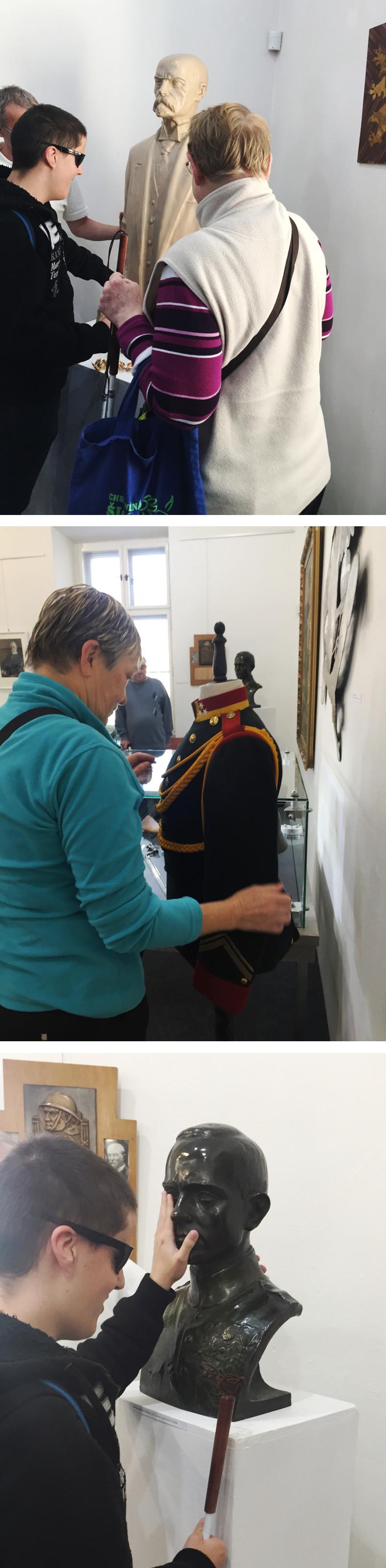 Fotografie z prohlídky výstavy TGM a Frenštátsko.