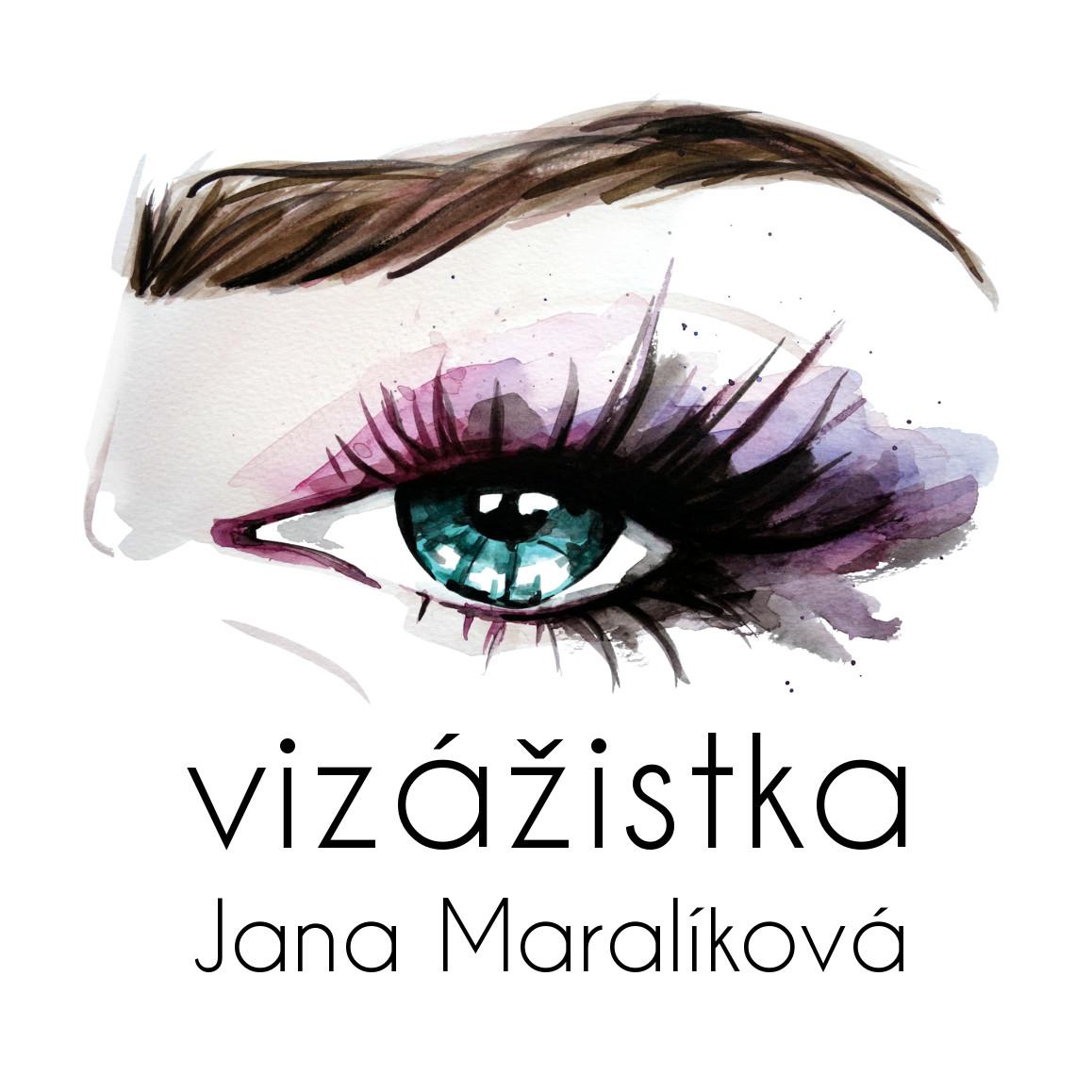 Logo vizážistky Jany Maralíkové.