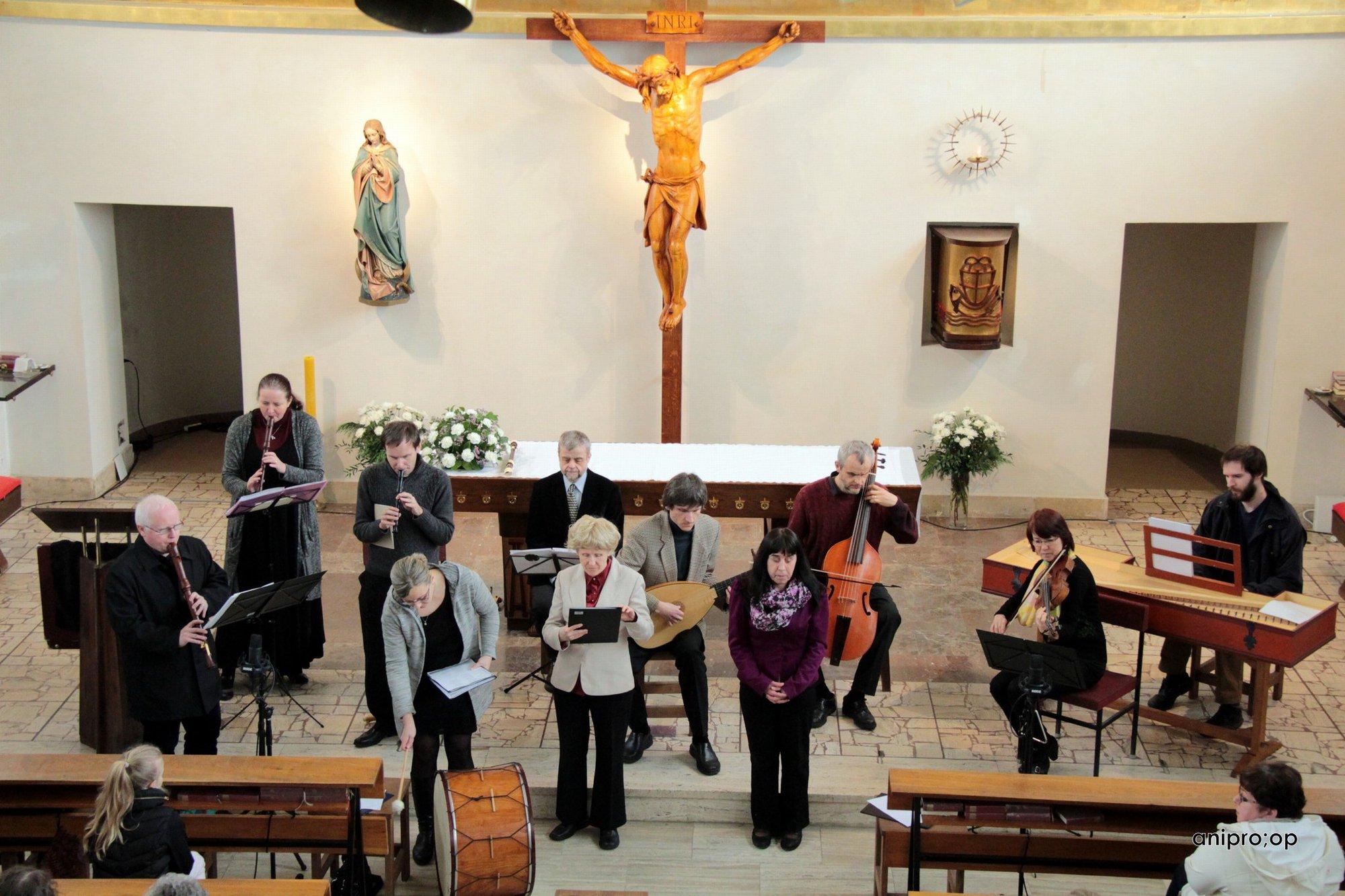 Fotografie umělců z Musica pro Sancta Cecilia.