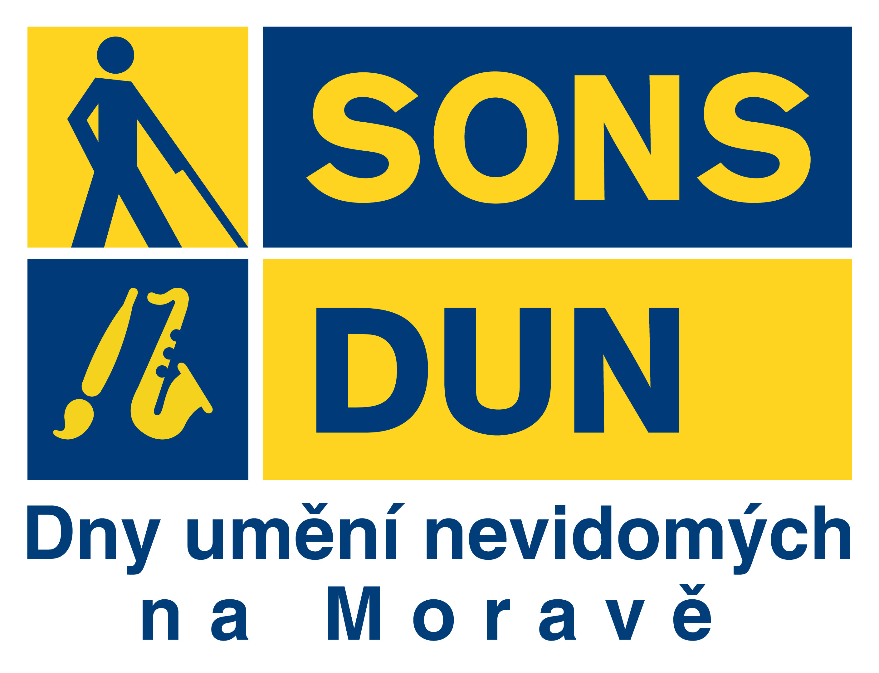 Logo festivalu Dny umění nevidomých na Motravě
